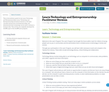 Learn Technology and Entrepreneurship Facilitator Version