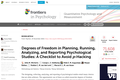 Degrees of Freedom in Planning, Running, Analyzing, and Reporting Psychological Studies: A Checklist to Avoid p-Hacking