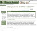 Malnutrition, DNA Replication, Development, and Schizophrenia Homework Problem