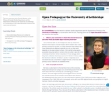 Open Pedagogy at the University of Lethbridge