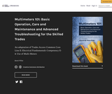 MultiMeters 101: Basic Operation, Care and Maintenance and Advanced Troubleshooting for the Skilled Trades – Simple Book Publishing