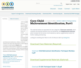 Core 2.5: Child Maltreatment Identification, Part 1