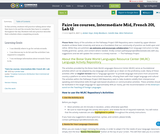 Faire les courses, Intermediate Mid, French 201, Lab 12
