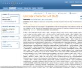 Unicode character set (R-Z)