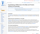 Hypothalamus Differences in the Male and Female - Anatomy & Physiology