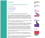 Think OS: A Brief Introduction to Operating Systems