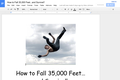 How to Fall 35000 Feet and Survive