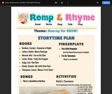 Romp & Rhyme Storytime Lesson Plan: Hooray for Snow!
