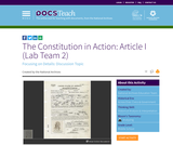 The Constitution in Action: Article I (Lab Team 2)