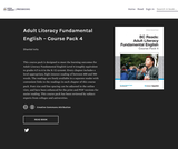 Adult Literacy Fundamental English - Course Pack 4
