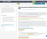 The environment, English Template, Intermediate Mid