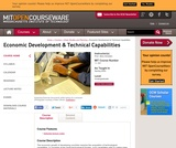 Economic Development and Technical Capabilities, Spring 2004