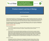 Problem-based Learning in Biology with 20 Case Examples