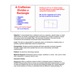 A Craftsman Divides a Rectangle