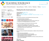 Reading Ads with a Social Justice Lens