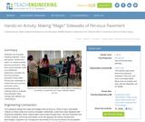 "Making ""Magic"" Sidewalks of Pervious Pavement"