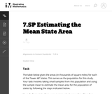 Estimating the Mean State Area