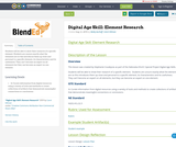 Digital Age Skill:  Element Research