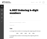 Ordering 4-Digit Numbers