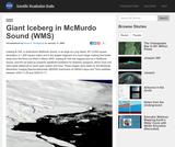 Giant Iceberg in McMurdo Sound (WMS)