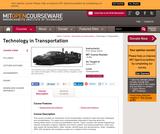 Technology in Transportation, Spring 2011
