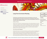 Long-Term Curriculum Planning