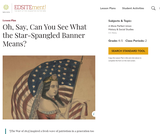 Oh, Say, Can You See What the Star-Spangled Banner Means?