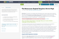 The Restaurant, English Template, Novice High