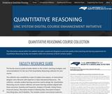 UNC System Quantitative Reasoning Digital Course