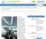 Statistical Analysis of Methods to Repair Cracked Steel