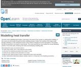 Modelling Heat Transfer