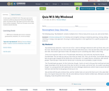 Quiz W.5: My Weekend