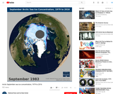 Arctic Sea Ice Concentrations for September (Minimum)