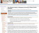 The Lifestyle Project at  Malaspina University-College, British Columbia