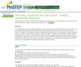 Mixtures, Solutions and Saturation: Testing Household Materials