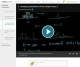 Statistics: Sampling Distribution of the Sample Mean 2