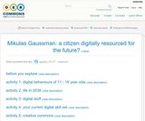 Mikulas Gaussman: a citizen digitally resourced for the future?