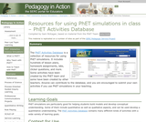 Resources for Using PhET Simulations in Class  PhET Activities Database