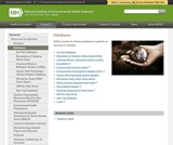National Institute of Environmental Health Sciences Databases