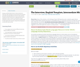 The Interview, English Template, Intermediate Mid