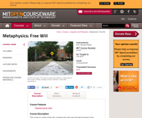 Metaphysics: Free Will, Fall 2004