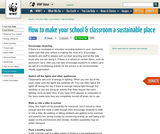How to make your school & classroom a sustainable place