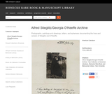 Alfred Stieglitz/Georgia O'Keeffe Archive