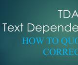 TDA - Text Dependent Analysis