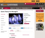 Game Theory for Managers, Spring 2004