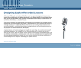 Designing Spoken/Recorded Lessons