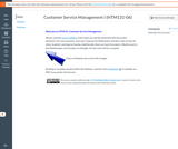 Customer Service Management I Canvas course shell