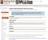 Gallery Walk Questions about the Ocean