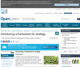 Introducing a Framework For Strategy