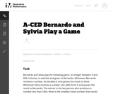 Bernardo and Sylvia Play a Game